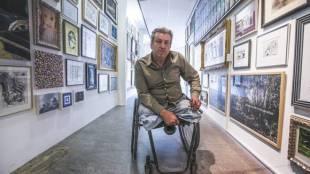 Rob Scholte in het RSMuseum (Foto NHD)