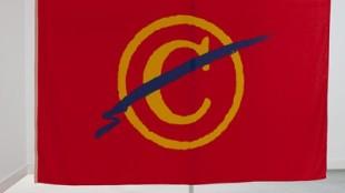 De vlag van Rob Scholte bij de Gran Pavese Foundation