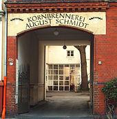 Die 1878 begründete Kornbrennerei August Schmidt, jetzt Künstlerateliers Kornbrennerei Bertramstraße 4a Hannover