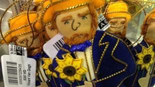 Kerstbal met zonnebloemen, Van Gogh als poppetje, het gele-huisrugzakje en Monopoly met zonnebloemen.