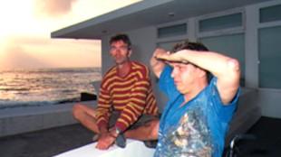 Rob Scholte met Rob Birza op Tenerife
