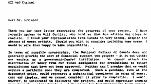 The National Gallery of Canada - Letter to The Hope & Optimism Portfolio