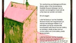 Christian Braun - Museum Overholland (1) / Tegen belangenconflicten in het Stedelijk Museum