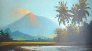 Frederik Kasenda - Landscape with vulcano