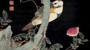 Ito Jakuchu - Large bird and roses