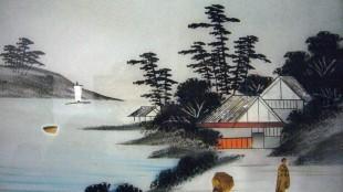 Japanse glasschildering 1