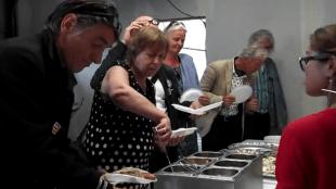 Pauzebuffet verzorgd door Brigitta Meijering van Toko Intani