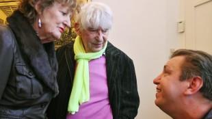 Rob Martens - Rob Scholte met Hedy d'Ancona en Aat Veldhoen