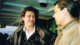 Rob Scholte met Andrea Murnik in de vaporetto