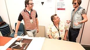 Rob Scholte met Giel Beelen en Gideon Karting