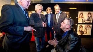 Rob Scholte met Hans Wiegel, Gustave Nouel, Ivo de Lange en Jan Franssen bij IQ