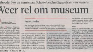 Ronald den Boer - Weer rel om museum