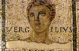 Vergilio mosaico de Monno Landesmuseum Trier