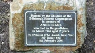 Anne Frank Memorial, Princes Street Gardens
