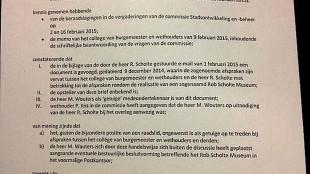 De Motie van Afkeuring tegen raadslid Michiel Wouters