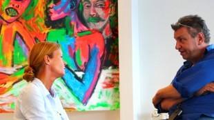 Pascalle Mansvelder van Odapark met Rob Scholte in zijn museum