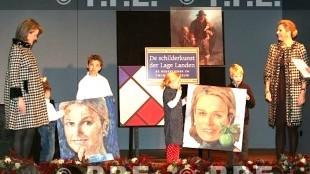 Prinses Maxima en zwangere Prinses Mathilde ontvangen De Schilderkunst der Lage Landen in het Gemeentemuseum Den Haag (foto PPE:Nieboer)