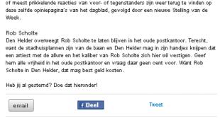 Stelling van de week bij Dichtbij.nl