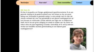 Wethouder Jacqueline van Dongen, gediplomeerd gewichtsconsulente