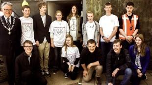 Burgemeester Koen Schuiling met Ons Vrijwilligers team!