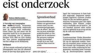 Delano Weltevreden - Fractie Vermooten eist onderzoek