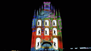 Lightshow op stadhuis Gouda in Huis Ten Bosch