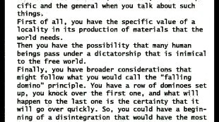 President Eisenhower explaining the Domino Theory in 1954 (US Government Printing Office)