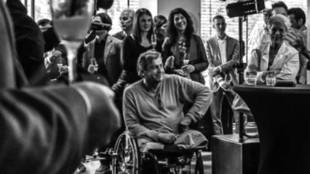Rianne Noordegraaf - Rob Scholte bij opening van Judith Osborn in Park Hotel