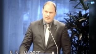 Wethouder Geurt Visser in de Gemeenteraad Den Helder