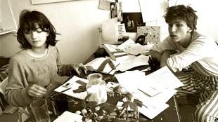 Ad van der Zee - Sandra Derks en Rob Scholte op de Haarlemmerweg 149 te Amsterdam in 1980
