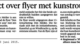 Leo Blank - Conflict over flyer kunstroute (1)