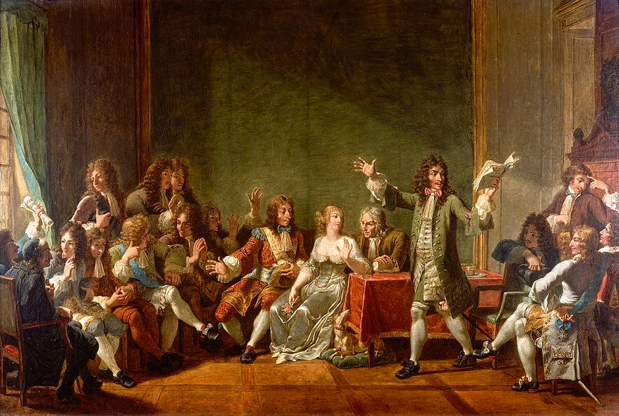 Nicolas-André Monsiau – Molière Reading Tartuffe at Salon of Anne 'Ninon' de l'Enclos