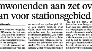 Omwonenden aan zet over plan stationsgebied (Helderse Courant, 13 juni 2015)