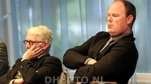Wethouder Dirk Pastoor links met toen nog wethouder Geurt Visser rechts (foto DHFOTO)
