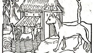 HET GEITJE EN DE WOLF