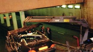 International Affair Diana's wrecked Mercedes