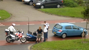 Pica zojuist geschoten in Heerhugowaard (foto Fleischbaum)