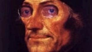 Rob Scholte - Poster Erasmusprijs (Portret van Erasmus, waarachter Prins Bernard)