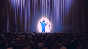 Gerrit Zalm als Priscilla, openingsact van het ABN AMRO Cabaret 2014