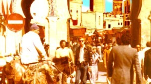 In 1976 I spent three months at Bab Boujeloud, the blue gate of Fez, in Morocco