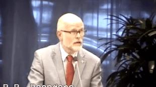 Peter Reenders (Stadspartij 0.0) gisteren in de raad