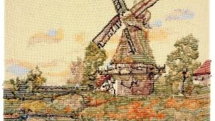 Rob Scholte - Landschap met molen