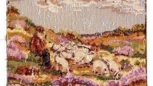 Rob Scholte - Herder met schapen op heide