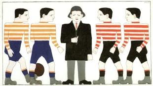 Bart van der Leck - Voetballers en scheidsrechter