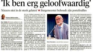 Delano Weltevreden - Peter Reenders 'Ik ben erg geloofwaardig' in NHD, 26 september 2015