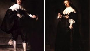 Rembrandt - De huwelijksportretten van Maerten Soolmans en Oopjen Coppit