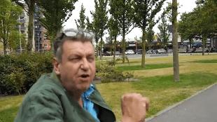 Rob Scholte in het stadspark van Den Helder