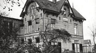 Villa Nova in Noordwijk, waar Albert Verweij met echtgenote Kitty van Vloten woonde