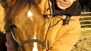 Voormalig privé-detective Jeroen van Oostveen met paard