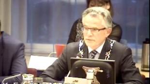 Burgemeester Koen Schuiling op 31 augustus 2015